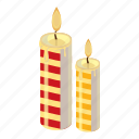 candle, cartoon, christmas, fire, flame, holiday, light icon