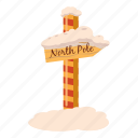 cartoon, christmas, north, pole, snow, winter, wood icon