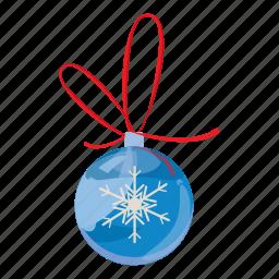 ball, cartoon, christmas, holiday, merry, realistic, xmas icon