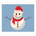 cartoon, christmas, hat, snow, snowman, winter, xmas icon