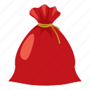 bag, cartoon, christmas, gift, holiday, sack, santa icon