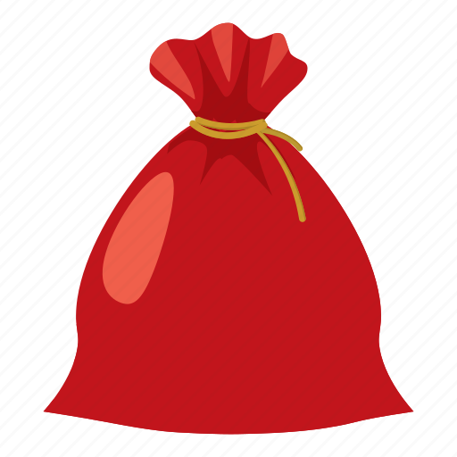 bag, cartoon, christmas, gift, holiday, sack, santa icon