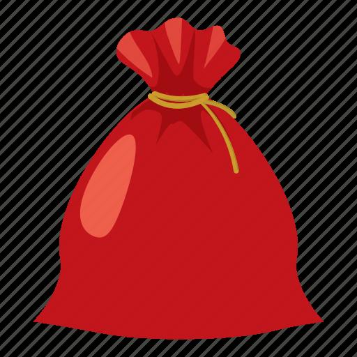 cartoon, christmas, gift, holiday, sack