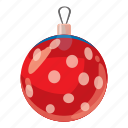 ball, cartoon, celebration, christmas, december, decoration, winter icon