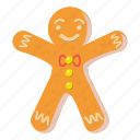 cartoon, christmas, food, gingerbread, holiday, man, sweet icon