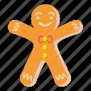 cartoon, christmas, food, gingerbread, holiday, man, sweet