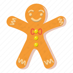 cartoon, christmas, food, gingerbread, holiday, man, sweet icon