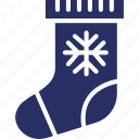 christmas, gift, presents, sock icon