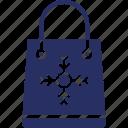 bag, christmas, shopping, snowflake icon