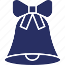 alarm, bell, bow, christmas icon