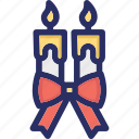 candles, christmas, decoration icon