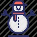 christmas, iceman, snowman, winter icon