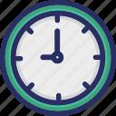 clock, midnight, new year icon