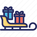 box, christmas, gifts, presents icon