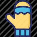 christmas, glove, mitten, winter icon