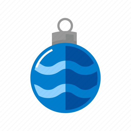 blue, christmas, decoration, sphere icon