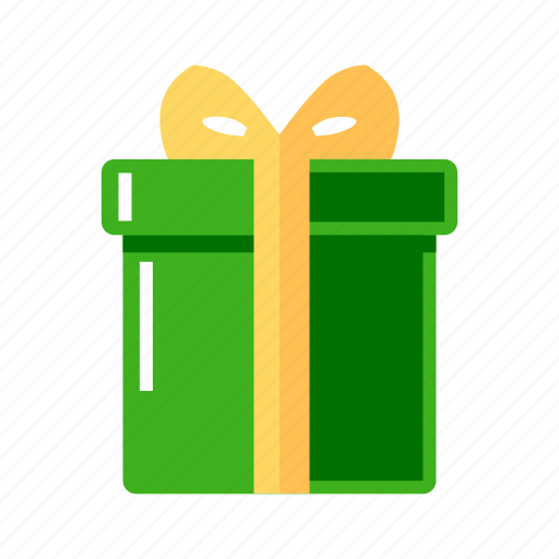 box, christmas, gift, green icon