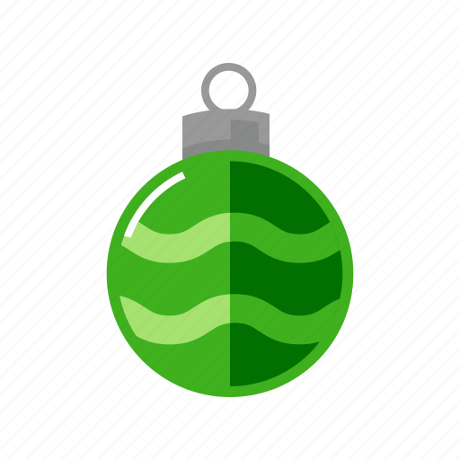 christmas, decoration, green, sphere icon