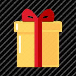 box, christmas, gift, yellow icon