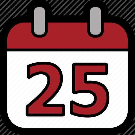 calendar, christmas, christmas day, day, december, december 25 icon