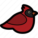 bird, cardinal icon