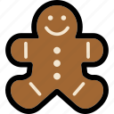 bread, cookie, ginger, gingerbread, gingerbread man, man icon