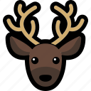 animal, deer, head, reindeer icon