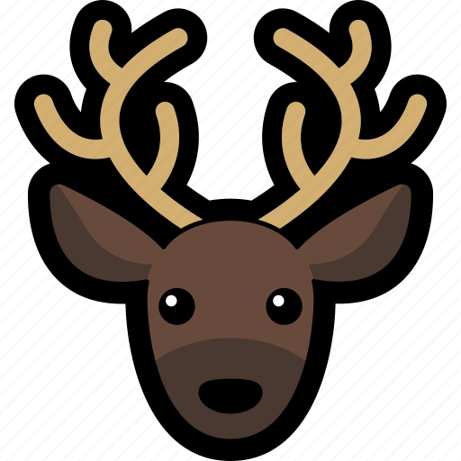 animal, deer, head, reindeer icon