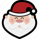 christmas, head, santa icon