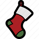 christmas, holiday, sock, stocking, winter icon