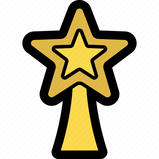 christmas, decoration, star, topper, tree, tree topper icon
