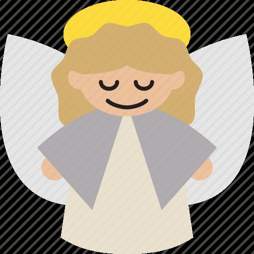 angel, christmas, christmas angel, holiday icon