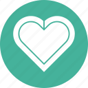 bauble, decoration, heart, romantic, valentine icon