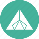camping, outdoor, outing, summer, tent, tourism, vacation icon