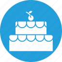 birthday cake, cream, dessert, food, piece, sweets icon