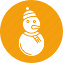 celebration, decoration, holiday, ornament, snow, snow man, xmas icon