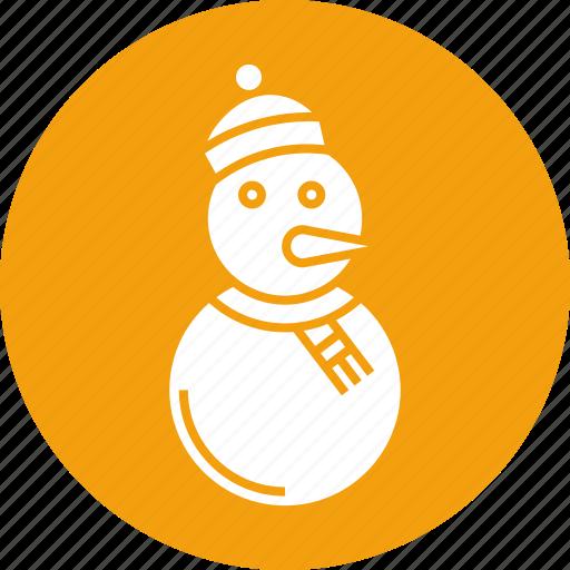 celebration, decoration, holiday, ornament, snow, snow man, xmas icon