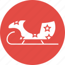 christmas, santa, sled, sledge, sleigh, snow icon