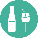 chef, cook, gastronomy, glass and bottle, restaurant, utensils icon