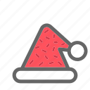 christmas, color, hat, party icon