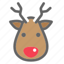 christmas, color, deer, reindeer, xmas