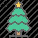 christmas, color, tree