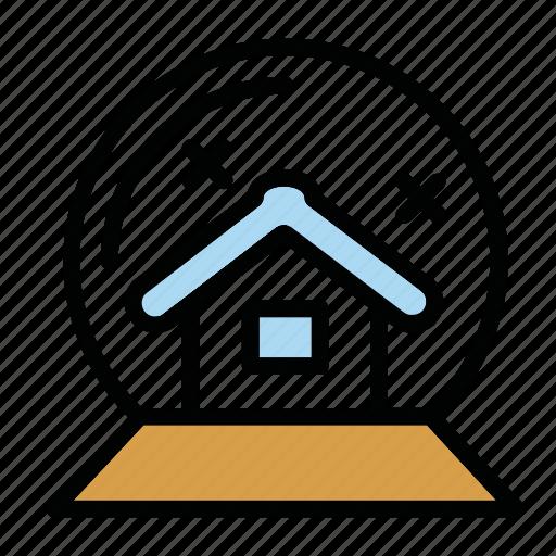 bowl, bulb, house, snow, toy, x-mas icon