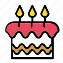 b-day, cake, candles, celebration, dessert icon