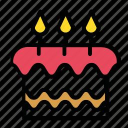 b-day, cake, candles, celebration, dessert icon