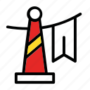celebration, cone, decoration, new year icon