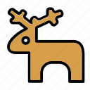 deer, elk, new year, toy, x-mas icon