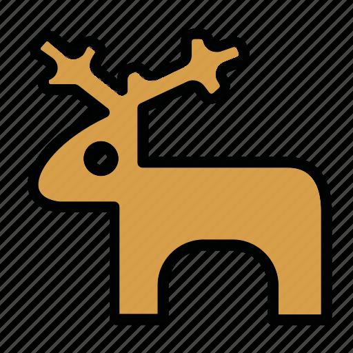 deer, elk, new year, toy, x-mas icon