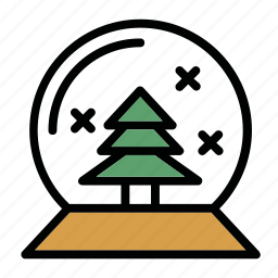 bowl, new, tree, x-mas, year icon