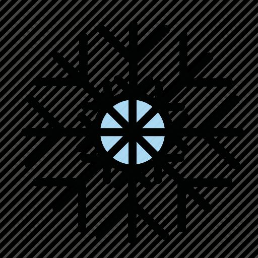 snow, snowflake, snowfrost, winter icon
